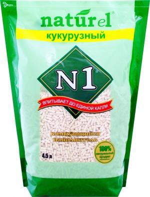 Наполнитель комкующийся  NATUReL Кукурузный, 4.5л №1