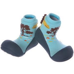 Тапочки  Giraffe для мальчика Attipas. Цвет: синий