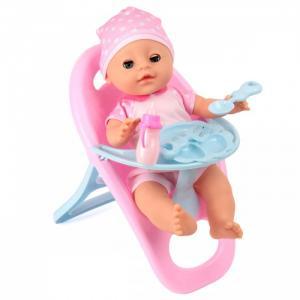 Кукла-Пупсик со стульчиком для кормления 35 см Lisa Jane