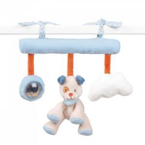 Подвесная игрушка  Soft toy Jim & Bob Собачка и Енот на завязках 34 см Nattou
