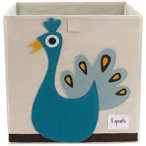 Коробка для хранения  Павлин 3 Sprouts. Цвет: бирюзовый