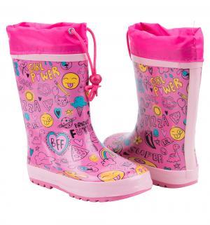 Резиновые сапоги Kidix, цвет: розовый