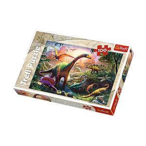 Пазл Treft Midi Мир динозавров, 100  элемментов Trefl