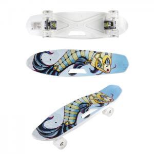 Скейтборд пластиковый со светом Т17041 Navigator