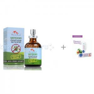 Масло для отпугивания комаров + Витаминизированный защитный крем под подгузник 1-2-3 Mommy Care