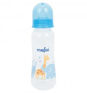 Бутылочка  пластик с рождения, 250 мл, цвет: голубой Mepsi