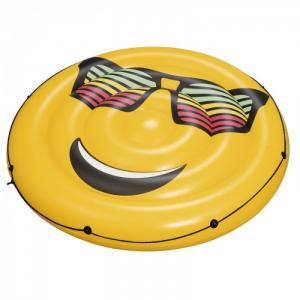 Надувной круглый матрас для плавания Смайл Bestway