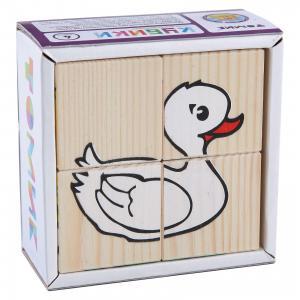 Кубики Животные, 4 штуки, Томик