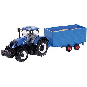 Трактор  New Holland Farm tractor, 1:32 Bburago. Цвет: синий
