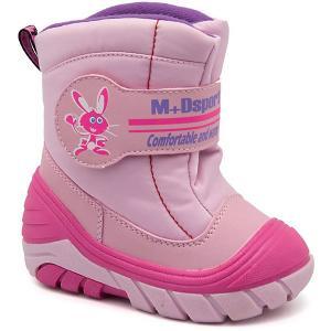 Сноубутсы М+Д. Цвет: блекло-розовый