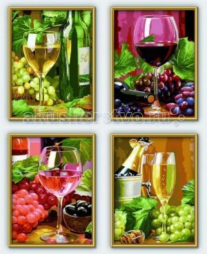 Картина по номерам 4 шт. Вино 18х24 см Schipper