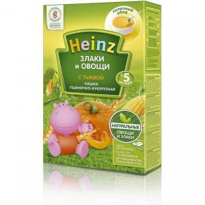 Каша  безмолочная пшенично-кукурузная с тыквой 5 месяцев 200 г Heinz