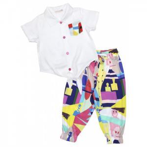 Комплект для девочки рубашка, капри 3434 Baby Rose
