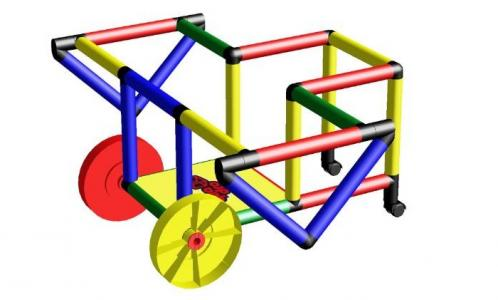 Конструктор крупногабаритный My First  с дополнительными колесами Quadro