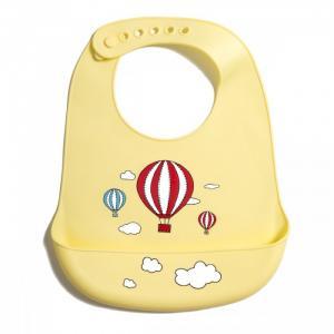 Нагрудник  силиконовый с кармашком Воздушные шары Baby Nice (ОТК)