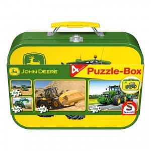 Набор пазлов Тракторы Johh Deere ,2x60 ,2x100, Schmidt Spiele