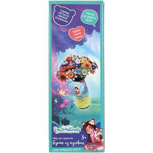 Рукоделие из пуговиц MultiArt Ваза с цветами. Enchantimals. Цвет: разноцветный