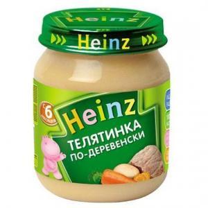 Пюре  телятина по-деревенски с 6 месяцев, 120 г Heinz