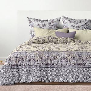 Комплект постельного белья  Лазурный сад, 5 предметов Романтика. Цвет: бирюзовый