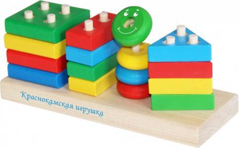 Деревянная игрушка  Набор Геометрик Краснокамская