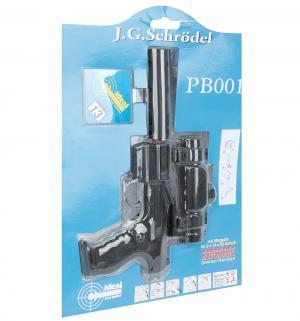 Игрушечный пистолет  с глушителем и телескопическим прицелом PB 001 13 зарядов 29 см Schrodel