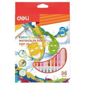 Карандаши цветные акварельные ColoRun 36 цветов Deli