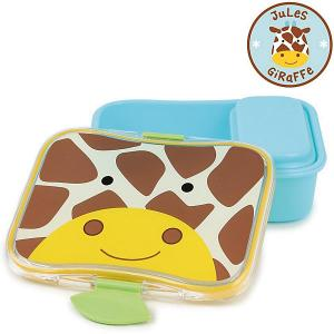 Набор контейнеров для завтрака  Zoo Lunch Kit Жираф Skip Hop. Цвет: коричнево-оранжевый