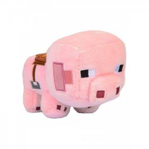 Мягкая игрушка  Happy Explorer Saddled Pig 16 см Minecraft