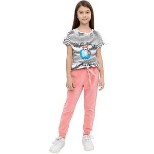 Спортивные брюки Button Blue. Цвет: розовый