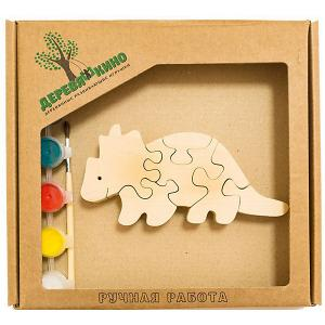Развивающий пазл Бронтозавр 2 Деревяшкино