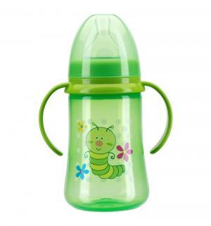 Бутылочка  полипропилен с 6 мес, 125 мл, цвет: зеленый Курносики