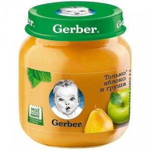 Пюре  яблоко-груша с 5 месяцев, 130 г Gerber