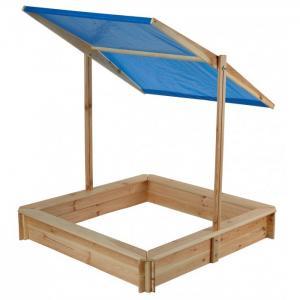 Песочница деревянная с крышей 120х120 см Ранний старт