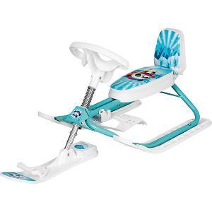 Снегокат  Kiddy LUX Панда Дэми. Цвет: голубой/белый