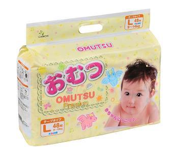 Подгузники детские L (9-14 кг) 48 шт. Omutsu