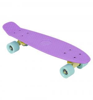 Скейтборд  S-2206P, цвет: фиолетовый Leader Kids