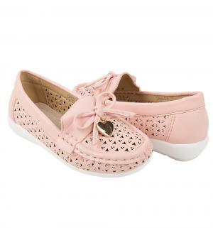 Мокасины , цвет: розовый Прыг-Скок