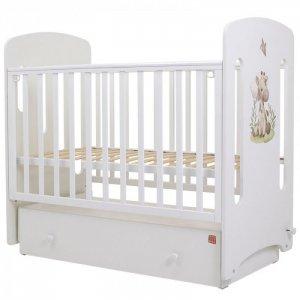 Детская кроватка  Каролина Малыши поперечный маятник Топотушки
