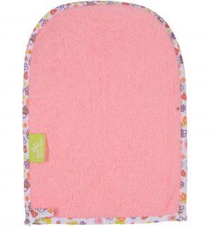 Мочалка-варежка , цвет: розовый Мир Детства