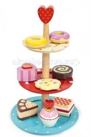 Деревянная игрушка  Набор Этажерка с 8 пирожными LeToyVan