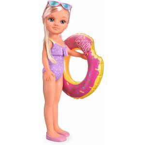 Кукла  Нэнси в бассейне, 42 см Famosa. Цвет: фиолетовый