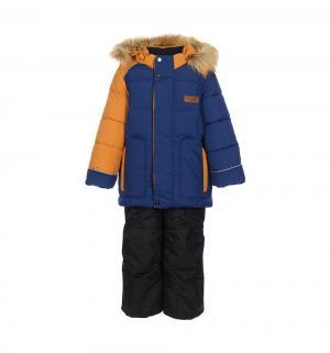 Комплект куртка/полукомбинезон  Уолтер, цвет: синий/желтый Oldos