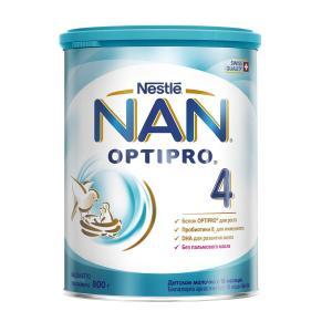 Детское молочко  Optipro 4 с 18 месяцев, 800 г Nan