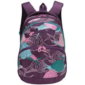 Рюкзак молодежный , фиолетовые улитки Grizzly