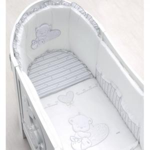 Постельное белье  Комплект из 5 предметов для кроватки Love Oval Italbaby