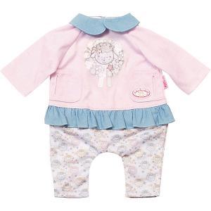 Одежда для куклы  Baby Annabell Костюмчик прогулки, розово-голубой Zapf Creation. Цвет: pink/blau