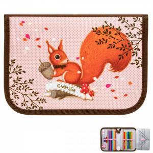 Пенал для девочки Nature Quest collection Woodland magic Squirrell с наполнением Tiger Enterprise
