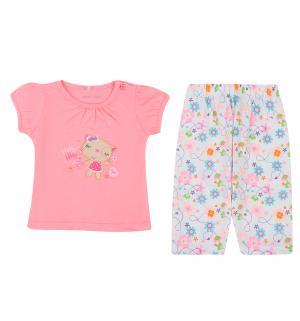 Комплект футболка/леггинсы , цвет: мультиколор Bony Kids