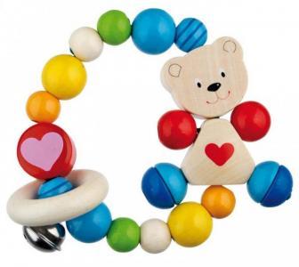 Прорезыватель  Игрушка-кольцо эластик Мишка с сердцем Heimess