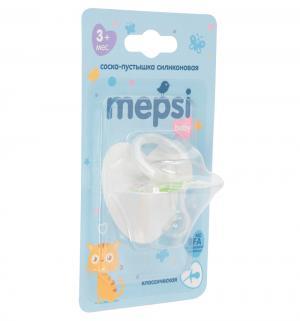 Соска-пустышка  Классическая силикон, с 3 мес, цвет: зеленый Mepsi